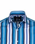 Luxury Striped Long Sleeved Mens Shirt SL 5405-A - Thumbnail