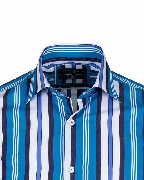 Luxury Striped Long Sleeved Mens Shirt SL 5405-A