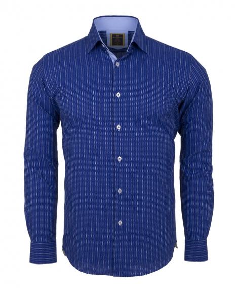 Oscar Banks - Luxury Striped Long Sleeved Mens Shirt SL 5973