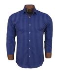Luxury Striped Long Sleeved Mens Shirt SL 5973 - Thumbnail