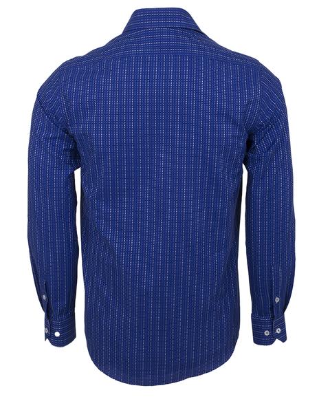 Oscar Banks - Luxury Striped Long Sleeved Mens Shirt SL 5973 (1)