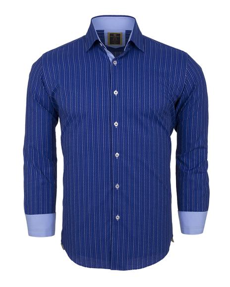 Luxury Striped Long Sleeved Mens Shirt SL 5973