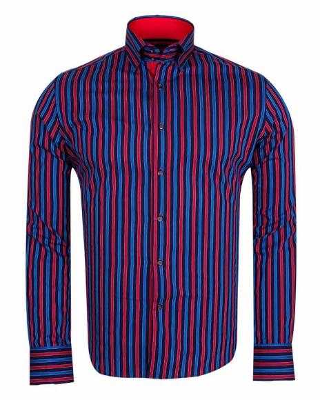 MAKROM - Luxury Striped Long Sleeved Shirt SL 5519