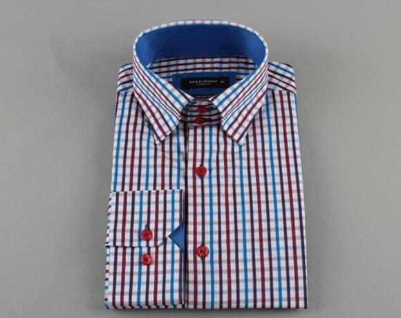 MAKROM - Luxury Striped Long Sleeved Shirt SL 5519 (Thumbnail - )