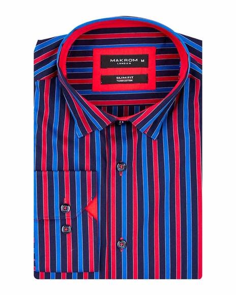 MAKROM - Luxury Striped Long Sleeved Shirt SL 5519 (1)