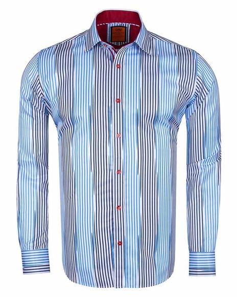 MAKROM - Luxury Striped Long Sleeved Shirt SL 6245