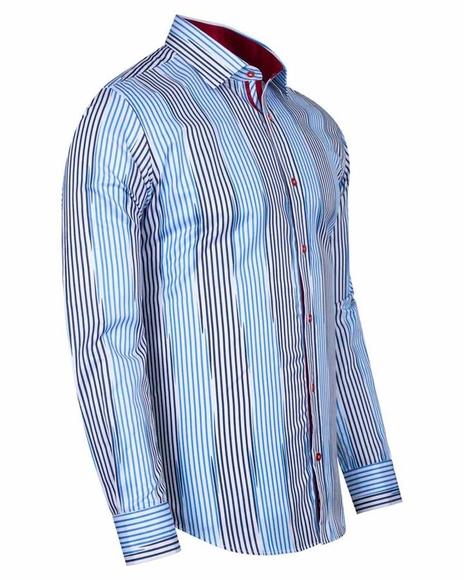 MAKROM - Luxury Striped Long Sleeved Shirt SL 6245 (1)