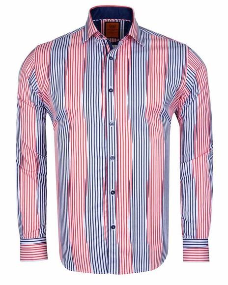 MAKROM - Luxury Striped Long Sleeved Shirt SL 6245 (Thumbnail - )