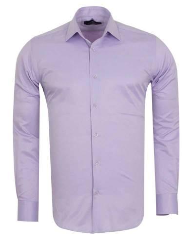 MAKROM - Luxury Striped Long Sleeved Shirt with Necktie Set SL 7120K (1)