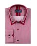 Luxury Striped Oscar Banks Double Collar Shirt SL 6758 - Thumbnail