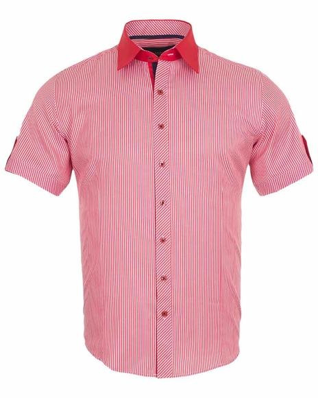 MAKROM - Luxury Striped Short Sleeved Shirt SS 188