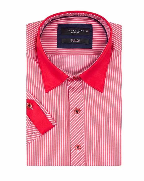 Luxury Striped Short Sleeved Shirt SS 188