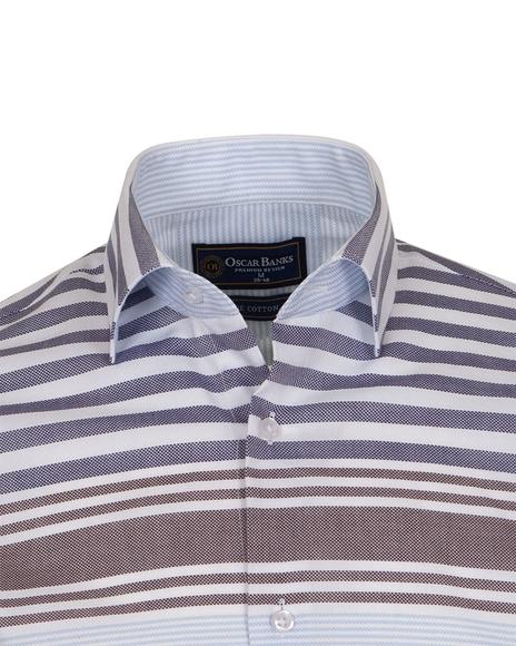 Luxury Textured Long Sleeved Mens Shirt SL 6763