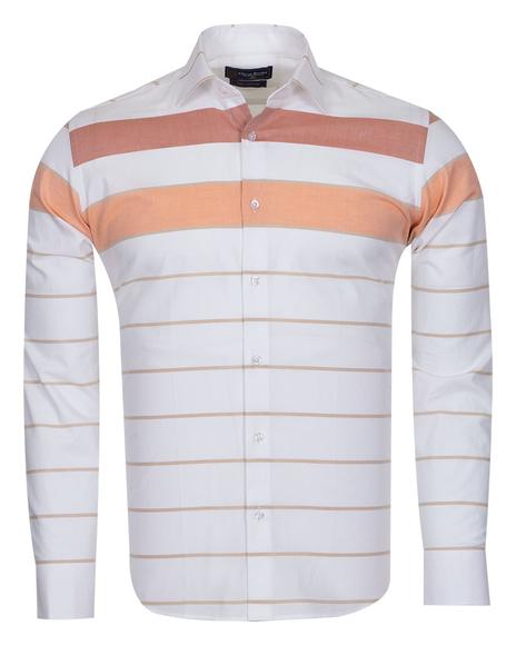 Oscar Banks - Luxury Textured Long Sleeved Mens Shirt SL 6765