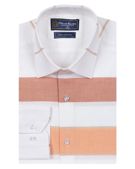 Oscar Banks - Luxury Textured Long Sleeved Mens Shirt SL 6765 (1)