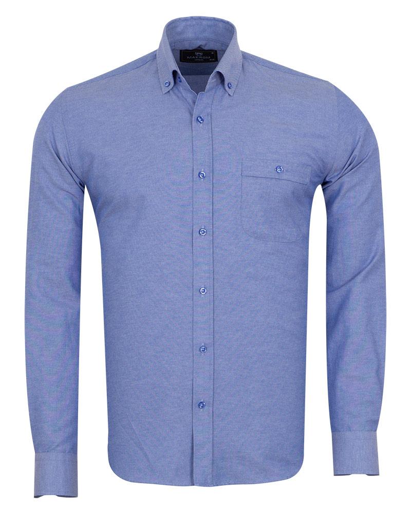 MAKROM - Luxury Textured Long Sleeved Shirt SL 7123