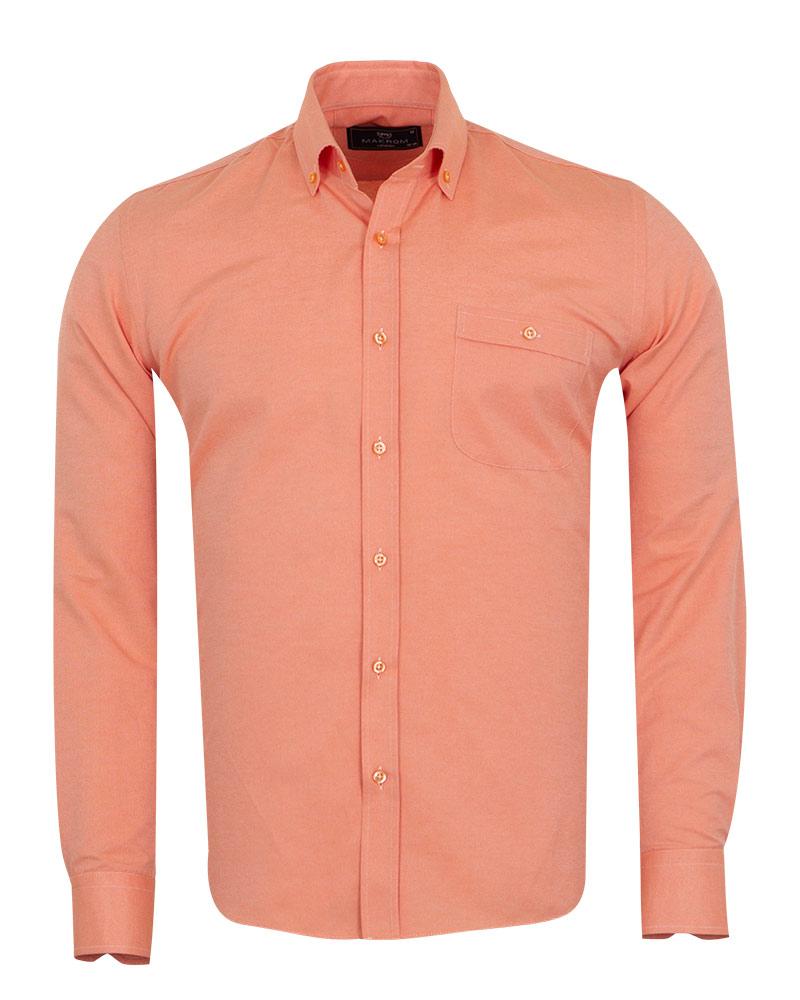 MAKROM - Luxury Textured Long Sleeved Shirt SL 7123 (Thumbnail - )