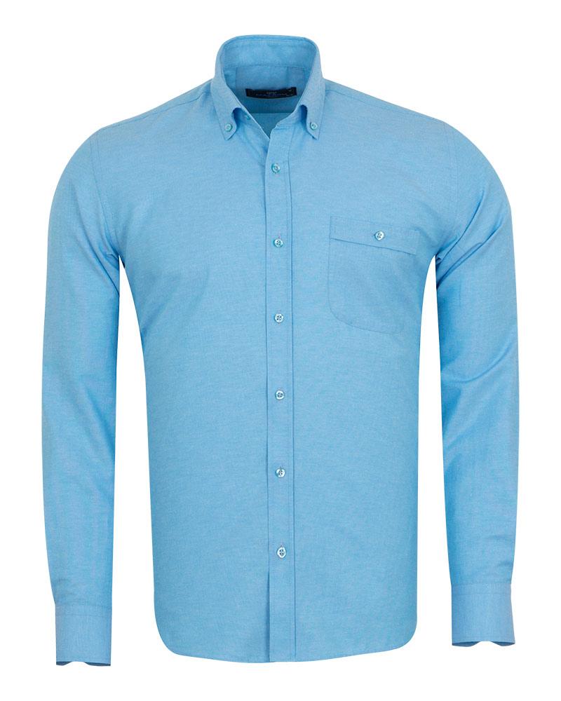 Luxury Textured Long Sleeved Shirt with Necktie Set SL 7123K