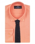 Luxury Textured Long Sleeved Shirt with Necktie Set SL 7123K - Thumbnail