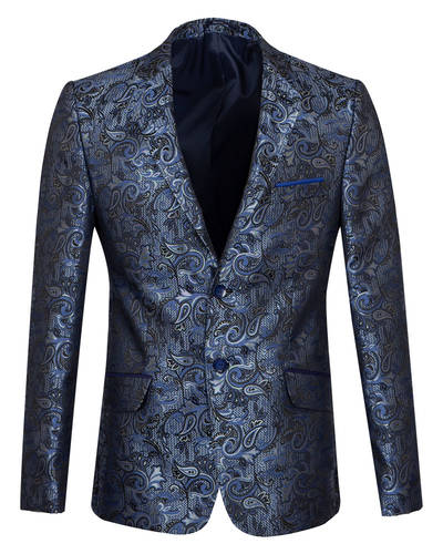 Oscar Banks - Luxury Textured Printed Mens Blazer J 283