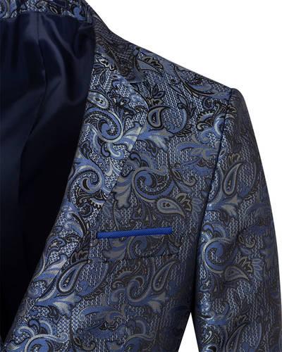 Luxury Textured Printed Mens Blazer J 283