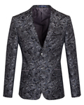Luxury Textured Printed Mens Blazer J 283 - Thumbnail