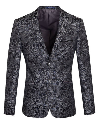 Oscar Banks - Luxury Textured Printed Mens Blazer J 283 (Thumbnail - )