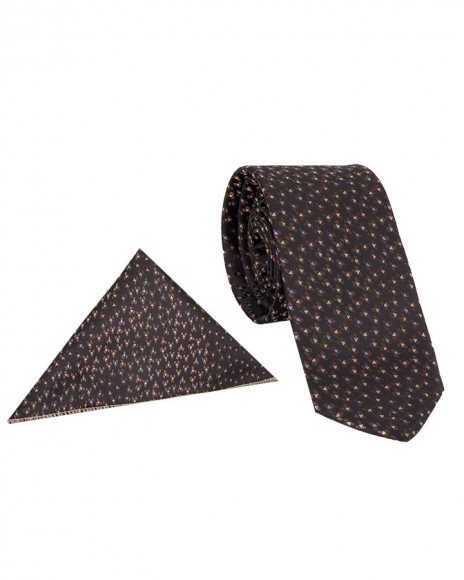 MAKROM - Luxury Triangle Shapes Printed Necktie KR 18 (1)
