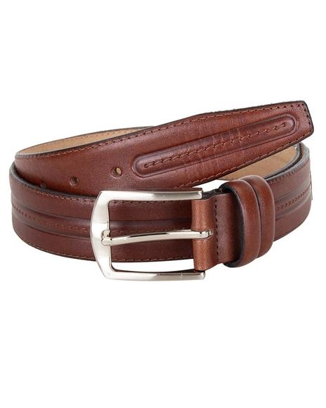 MAKROM - Luxury Triple Ply Leather Belt B 18 (Thumbnail - )