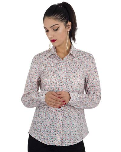 MAKROM - Luxury Womens Shirt Floral Design LL 3318 (Thumbnail - )