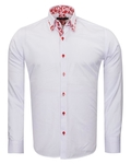 Makrom Textured Long Sleeved Plain Double Collar Mens Shirt SL 6800 - Thumbnail