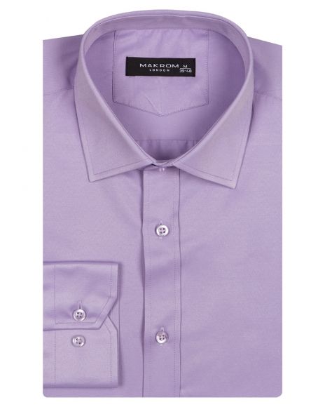 MAKROM - Long Sleeved Plain Classic Mens Shirt SL 1050-A (1)