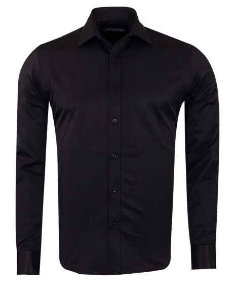 MAKROM - Long Sleeved Plain Classic Mens Shirt SL 1050-A (Thumbnail - )