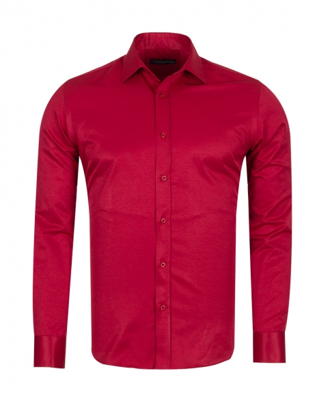 MAKROM - Mens Long Sleeved Plain Classic Shirt SL 1050-B