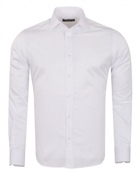 MAKROM - Long Sleeved Plain Classic Mens Shirt SL 1050-B (Thumbnail - )