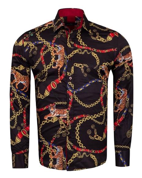 MAKROM - Printed Long Sleeved Mens Shirt SL 6966