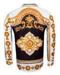 Satin Mens Shirt With Patterns Printed SL 6945 - Thumbnail