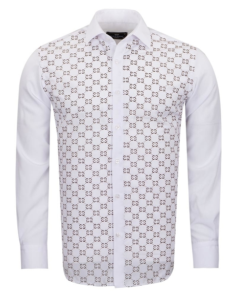 MAKROM - Mens White Shirt With Accessories SL 6897
