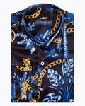 Oscar Banks Long Sleeved Satin Mens Shirt SL 6937 - Thumbnail