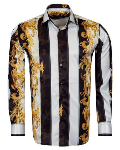 Oscar Banks - Oscar Banks Satin Mens Shirt For Mens SL 6940
