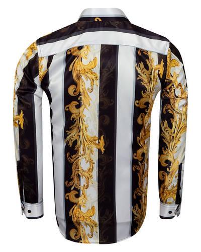Oscar Banks Satin Mens Shirt For Mens SL 6940