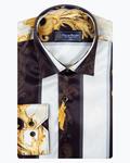 Oscar Banks Satin Mens Shirt For Mens SL 6940 - Thumbnail