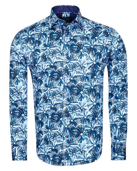 Oscar Banks - Oscar Banks Printed Long Sleeved Shirt SL 6828
