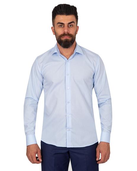 Oscar Banks - Oscar Banks Pure Cotton Mens Shirt SL 6898