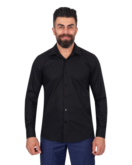 Oscar Banks - Oscar Banks Pure Cotton Mens Shirt SL 6898 (Thumbnail - )