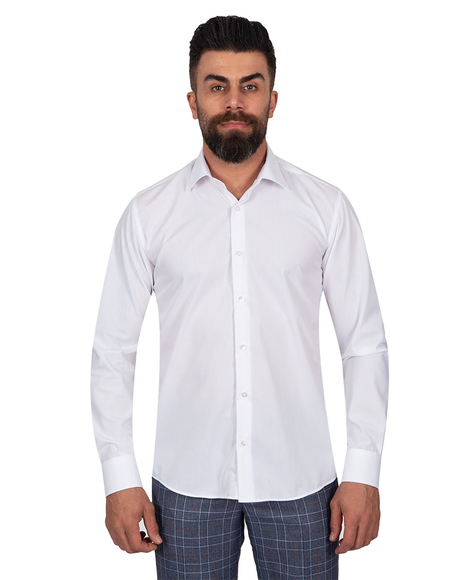 Oscar Banks - Oscar Banks Pure Cotton Mens Shirt SL 6898 (Thumbnail - )