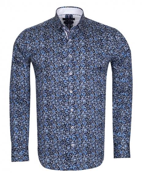 Oscar Banks - Pattern Printed Long Sleeved Pure Cotton Shirt SL 6696 (1)