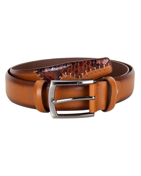 MAKROM - Patterned Leather Belt B 21