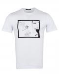 Patterns Printed Short Sleeved T-Shirt TS 1259 - Thumbnail