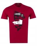 Patterns Printed Short Sleeved T-Shirt TS 1260 - Thumbnail